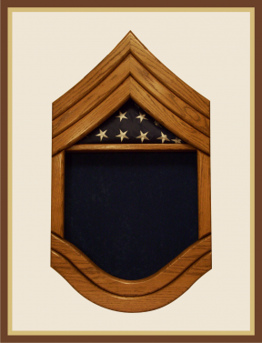 Air Force Chief Master Sergeant Shadowbox-Blue Background