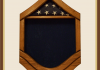 Oak Air Force Master Sergeant Shadowbox - Blue Background