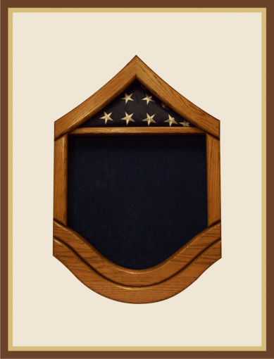 Oak Air Force Master Sergeant Shadowbox - Blue Background
