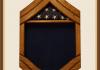 Oak Air Force Senior Master Seargent Shadowbox - Blue Background