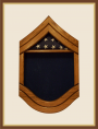 Oak Air Force Senior Master Seargent Shadowbox - Blue Background