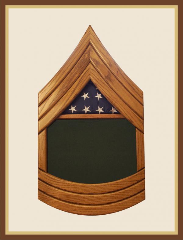 Army Master Sergeant Shadowbox-Green Background