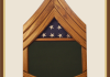 Oak Army Sergeant First Class Shadowbox-Green Background
