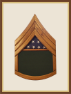 Oak Army Staff Sergeant Shadowbox-Green Background
