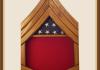 Oak Marine Gunnery Sergeant Shadowbox-Red Background
