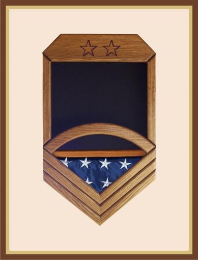Navy Master Chief Petty Officer Shadowbox
