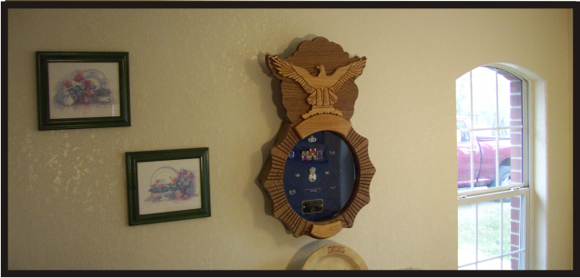 Air Force Security Forces Shadowbox Hanging on Wall