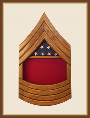 Marine Sergeant Major Shadowbox-Red Background