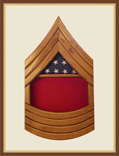 Marine Sergeant Major Shadowbox-Red Background