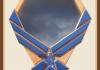 Oak Air Force Blue Emblem Shadowbox-Blue Background