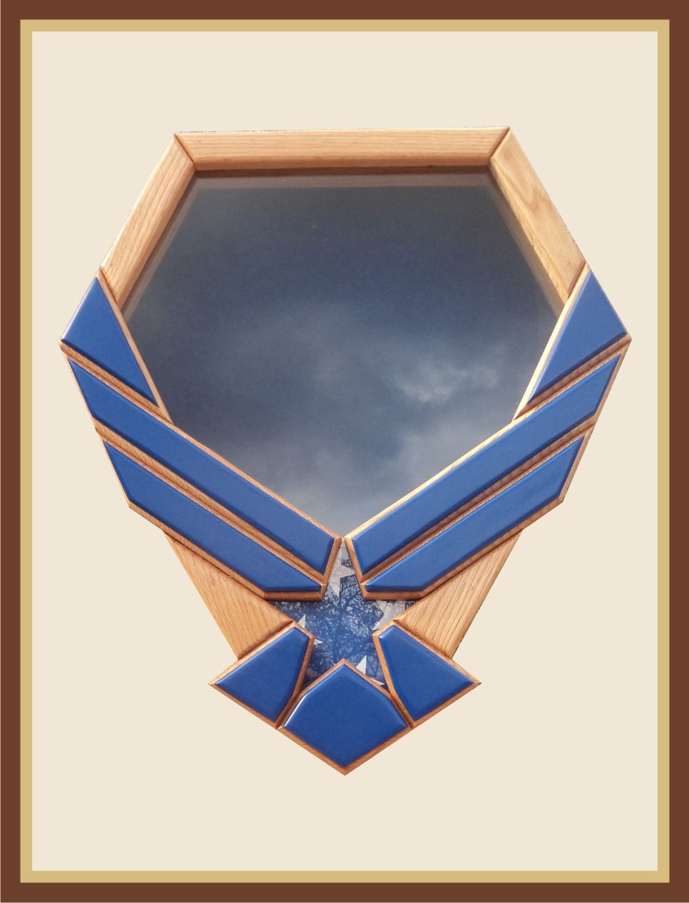 Blue Usaf Symbol Shadowbox See Our Prices