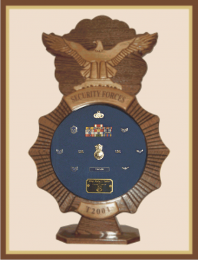 Air Force Security Forces Shadowbox-Blue Background