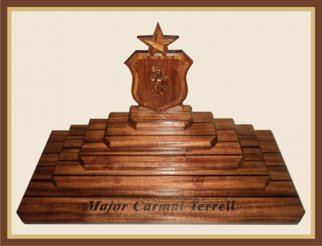 Mahogany Medical Arial Coin Display