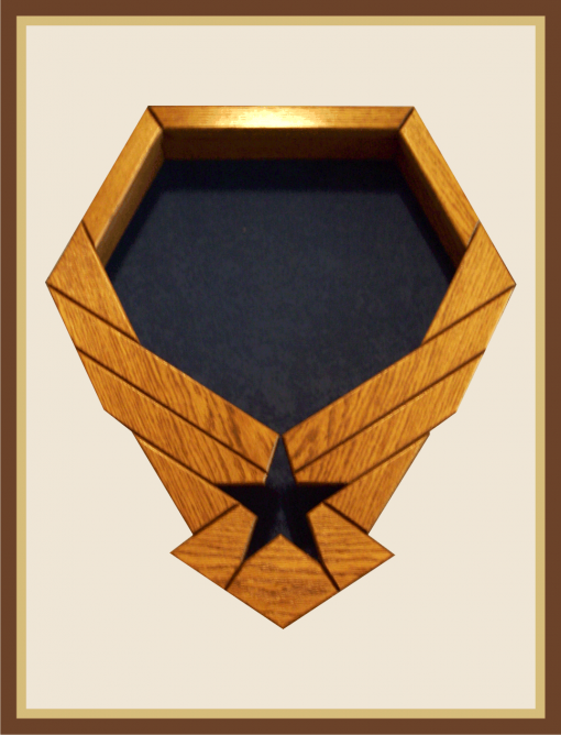 Oak Air Force Emblem ShadowBox - Blue Background
