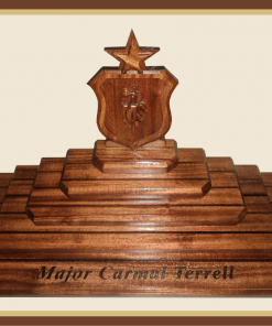 Air Force SMSgt Shadowbox|Woodknot Woodworks | Woodknot
